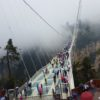 October Cool at Grand Canyon Glass Bridge, Zhangjiajie