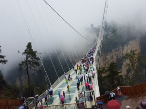 October Cool at Grand Canyon Glass Bridge, Zhangjiajie