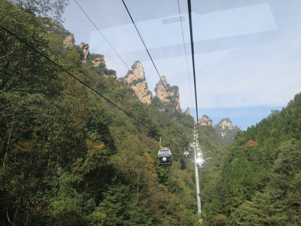 Cable cars at National Forest Park, Zhangjiajie