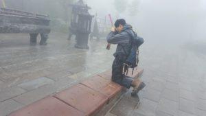 Devotee at Tianmen Mountain Zhangjiajie