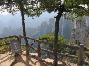 Scenic viewing point at Tianzi mountain zhangjiajie