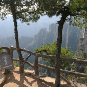 Scenic viewing point at Tianzi mountain zhangjiajie
