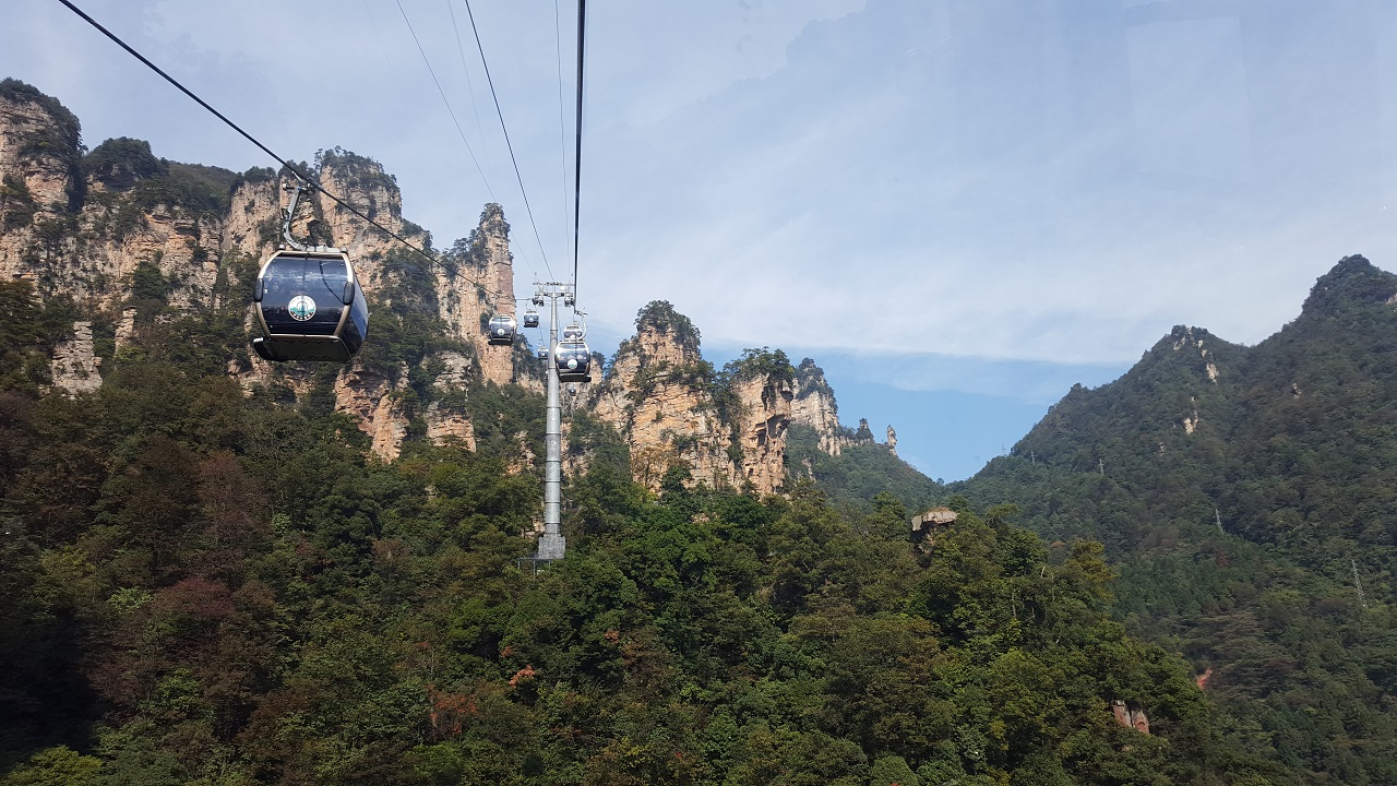 Cable car ride at National Forest Park Zhangjiajie