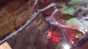 Steps at Huanglong Mountain or Yellow Dragon Caves at ZhangJiajie