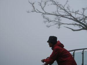 Zhangjiajie Tianmen Mountain on a very cloudy day