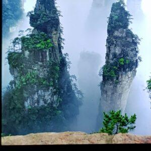 Unique mountains at Tianzi Mountain, Zhangjiajie