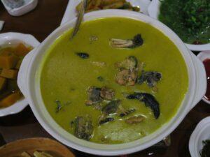 Chicken soup with black fungus at Zhangjiajie