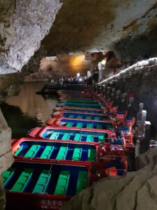 Boat rides along the stream Yellow Dragon Caves Zhangjiajie