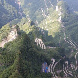 Long and Winding Road at Tianmen Mountain, Zhangjiajie