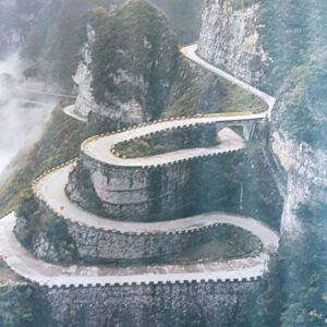 Tianmen Mountain winding road , Zhangjiajie