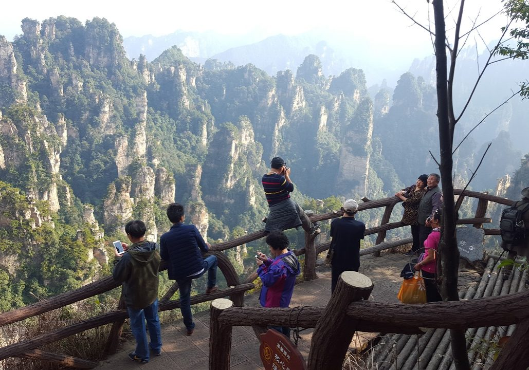 Scenic View at National Forest Park, ZhangJiajie